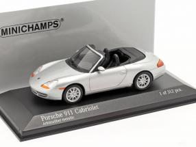 Porsche 911 (996) Cabriolet Year 1998 silver 1:43 Minichamps