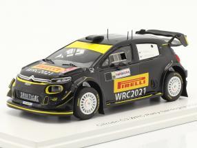 Citroen C3 WRC #21 Rally Sardegna 2020 Pirelli Tires test 1:43 Spark