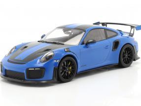 Porsche 911 (991 II) GT2 RS Weissach Package 2018 voodoo blue / black rims 1:18 Minichamps