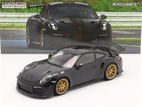 Porsche 911 (991 II) GT2 RS Weissach Package 2018 black / golden rims 1:18 Minichamps