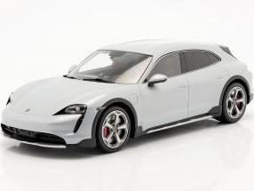 Porsche Taycan Turbo S Cross Turismo 2021 ice grey with showcase 1:18 Minichamps