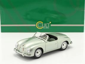 Porsche 356 America Roadster 1952 silver green metallic 1:18 Cult Scale
