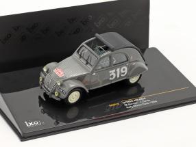 Citroen 2CV #319 M. Bernier, J. Duvey Rally Monte Carlo 1954 1:43 Ixo