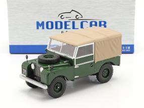 Land Rover Series I RHD Construction year 1957 dark green / beige 1:18 Model Car Group