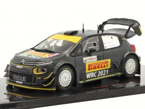 Citroen C3 WRC Advance vehicle Rallye Sardinia 2020 Solberg, Mikkelsen 1:43 Ixo