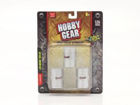 50 Gallon Drum Set (3 pieces) 1:24 Hobbygear