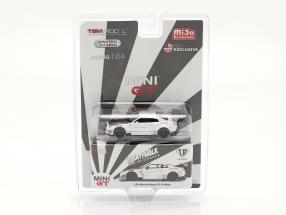 LB Works Nissan GT-R (R35) Type 2 LHD white in Blister 1:64 True Scale