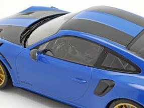 Porsche 911 (991 II) GT2 RS Weissach Package 2018 voodoo blue / golden rims
