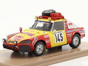 Citroen DS23 #145 Rallye Paris - Dakar 1981 Roncin, Quenti, Darmendrail 1:43 Spark