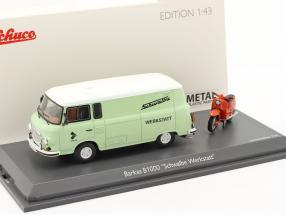Barkas B1000 workshop service with Schwalbe KR51 light green / orange 1:43 Schuco