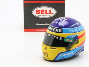 Fernando Alonso #14 Alpine F1 Team formula 1 2021 helmet 1:2 Bell