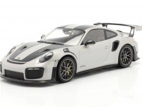 Porsche 911 (991 II) GT2 RS Weissach Package 2018 silver / silver rims 1:18 Minichamps