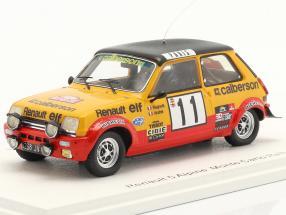 Renault 5 Alpine #11 Rallye Monte Carlo 1979 Ragnotti, Andrie 1:43 Spark