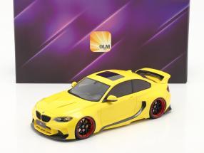 BMW M235i DarwinPro MTC Black Sails Widebody 2018 yellow 1:18 GLM