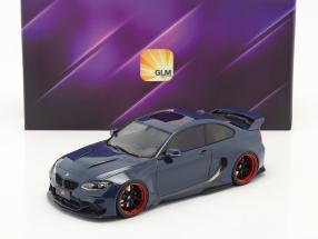 BMW M235i DarwinPro MTC Black Sails Widebody 2018 deep sea blue 1:18 GLM
