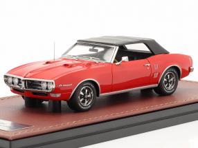 Pontiac Firebird 400 Closed Convertible year 1968 red / black 1:43 GLM