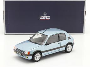 Peugeot 205 GTi 1.6 year 1988 topaze blue 1:18 Norev