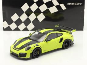 Porsche 911 (991 II) GT2 RS Weissach Package 2018 light green / black rims 1:18 Minichamps