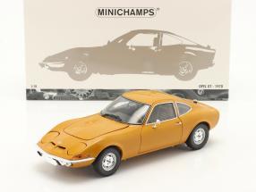 Opel GT year 1970 ocher yellow 1:18 Minichamps
