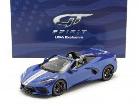 Chevrolet Corvette Stingray Convertible year 2021 blue 1:18 GT-SPIRIT