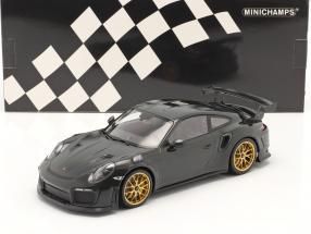 Porsche 911 (991 II) GT2 RS Weissach Package 2018 green / golden rims 1:18 Minichamps