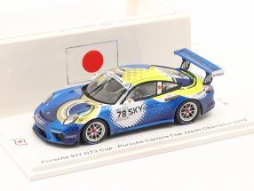 Porsche 911 GT3 Cup #78 champion Porsche Carrera Cup Japan 2018 1:43 Spark