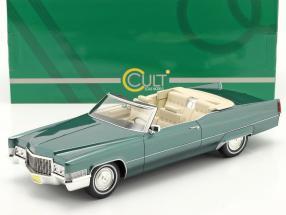Cadillac De Ville Convertible year 1970 green metallic 1:18 Cult Scale
