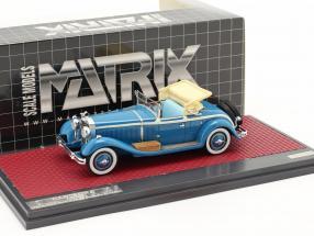 Isotta Fraschini 8A SS Castagna Roadster Open Construction year 1929 blue 1:43 Matrix
