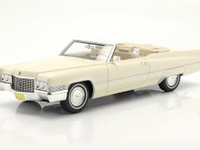 Cadillac De Ville Convertible year 1970 white 1:18 Cult Scale