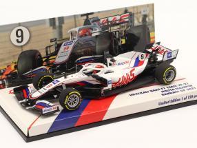 Nikita Mazepin Haas VF-21 #9 Bahrain GP formula 1 2021 1:43 Minichamps