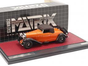 Bugatti Type 46 Convertible De Villars Closed Top 1930 orange / brown 1:43 Matrix