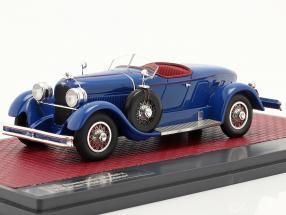 Duesenberg Model X McFarlan Boat Roadster 1927 blue 1:43 Matrix