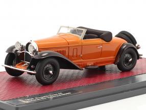 Bugatti Type 46 Cabriolet De Villars Open Top 1930 orange / brown  1:43 Matrix