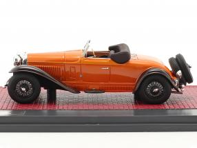 Bugatti Type 46 Cabriolet De Villars Open Top 1930 orange / brown
