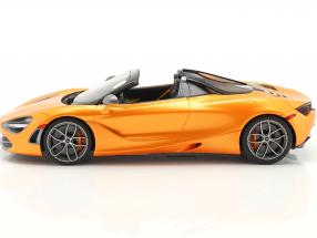 McLaren 720S Spider year 2018 orange metallic  GT-Spirit