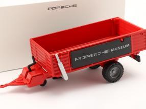 Trailer Porsche tractor Red 1:24 Welly