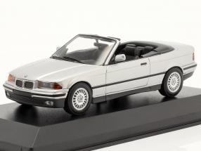 BMW 3 Series (E36) Convertible year 1993 silver 1:43 Minichamps