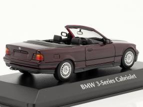 BMW 3 Series (E36) Convertible year 1993 purple metallic
