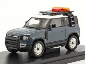 Land Rover Defender 90 year 2020 tasman blue 1:43 Almost Real