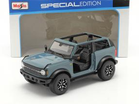 Ford Bronco Badlands (without Doors) year 2021 gray-blue