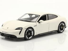Porsche Taycan Turbo S white 1:24 Burago