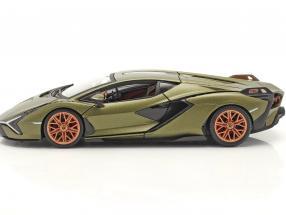 Lamborghini Sian FKP 37 year 2019 mat olive green  Burago