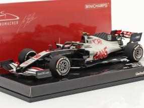 Mick Schumacher Haas VF-20 #50 FP1 Abu Dhabi GP formula 1 2020 1:43 Minichamps