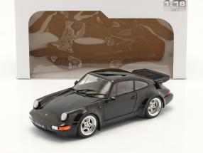 Porsche 911 (964) Turbo year 1990 black 1:18 Solido