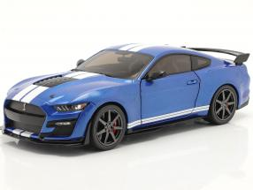 Ford Mustang Shelby GT500 Fast Track year 2020 blue metallic 1:18 Solido