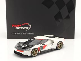 Ford GT #98 Heritage Edition 2021 white / red / carbon 1:18 TrueScale