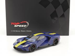 Ford GT Sunoco blue / yellow 1:18 TrueScale