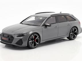 Audi RS6 Avant C8 year 2020 nardo grey 1:18 GT-SPIRIT