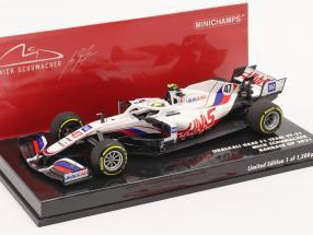 Mick Schumacher Haas VF-21 #47 Bahrain GP formula 1 2021 1:43 Minichamps