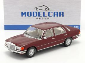 Mercedes-Benz 350 SE (W116) year 1972 red 1:18 Model Car Group